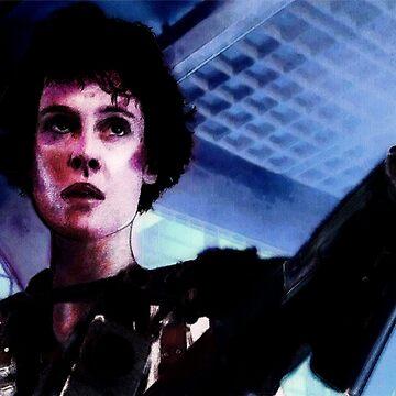 """Sigourney Weaver. In the movie """"Aliens""""  by jesustorrado"""