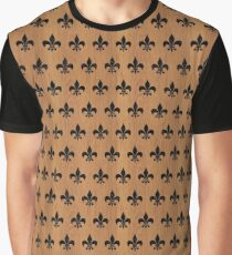 ROYAL1 BLACK MARBLE & LIGHT MAPLE WOOD Graphic T-Shirt