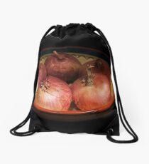 Red onions. Drawstring Bag