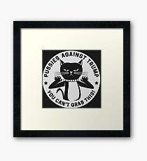 Pussycats Against Trump  Framed Print