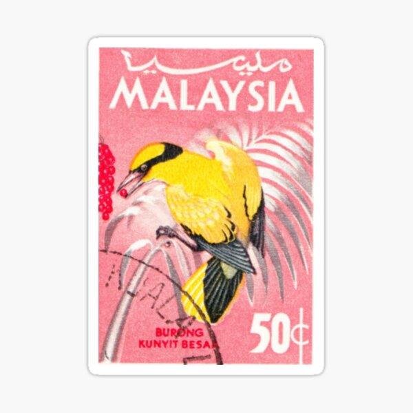 Malaysia Bird Print  Sticker