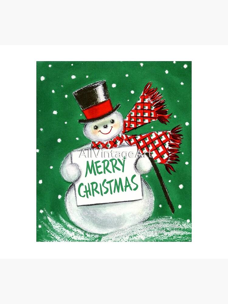 Weinlese-Weihnachtsschneemann von AllVintageArt