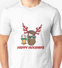 Hipster with reindeer horns T-Shirt