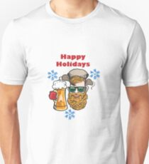 Hipster with Beer mug T-Shirt