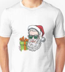 Hipster in Santa Hat T-Shirt