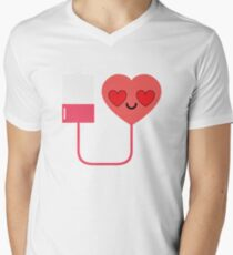 Blood Donation Emoji   Men's V-Neck T-Shirt