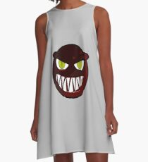 Angry Monster Face A-Line Dress