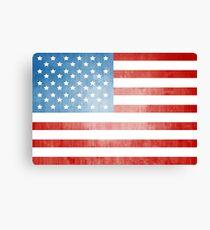 Grunge American flag Canvas Print