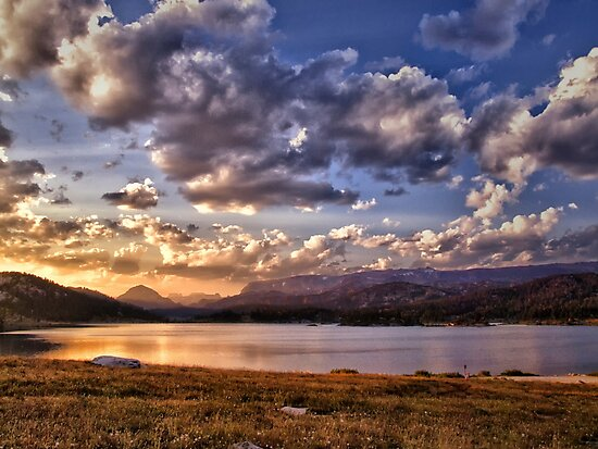 Evening Over Island Lake - Montana by Kathy Weaver