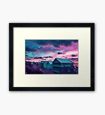 Brighton Beach Sunset Framed Print