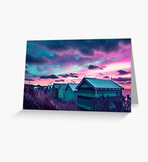 Brighton Beach Sunset Greeting Card