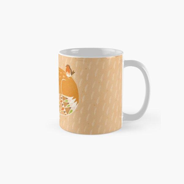 Sleeping fox & robin geometric pattern illustration Tasse (Standard)