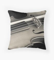 violin music Throw Pillow
