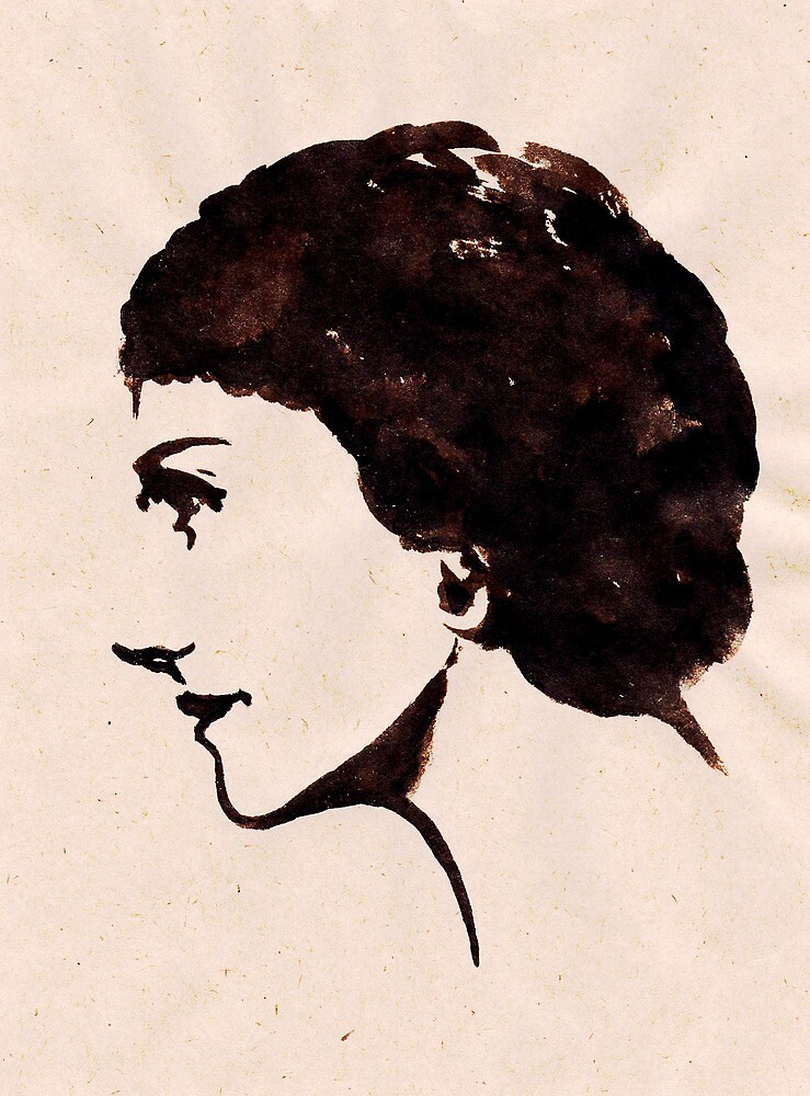 Gabrielle Chanel (Ink on paper) by steamdesign