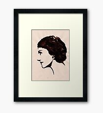 Gabrielle Chanel (Ink on paper) Framed Print