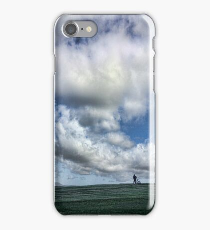 man with bicycle iPhone Case/Skin