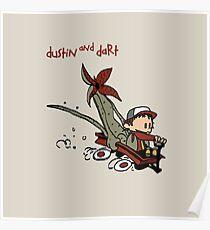 Dustin And Dart Stranger Things 2 Poster