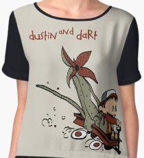 Dustin And Dart Stranger Things 2 Women's Chiffon Top