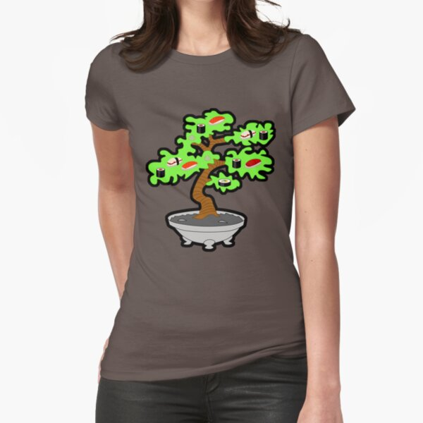 Sushi bonsai... Fitted T-Shirt