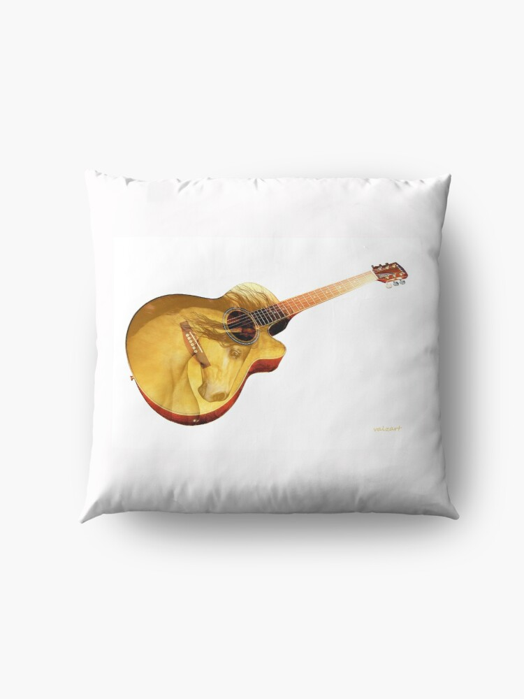 Alternate view of The guitar is a lady  Floor Pillow