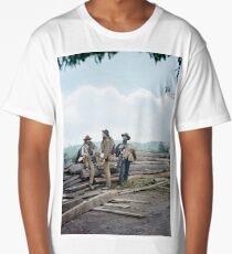 1863 - Confederate prisoners at Seminary ridge during the battle of Gettysburg, Pennsylvania Long T-Shirt