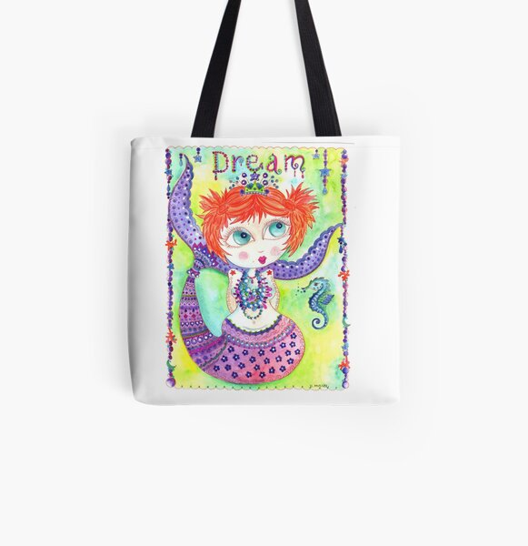 Dream Mermaid All Over Print Tote Bag