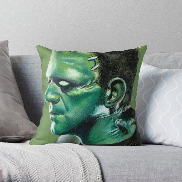 Frankensteins Monster Throw Pillow