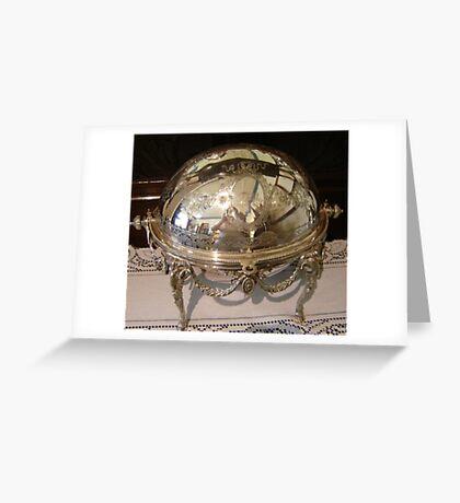 Silver Dish Reflection Greeting Card