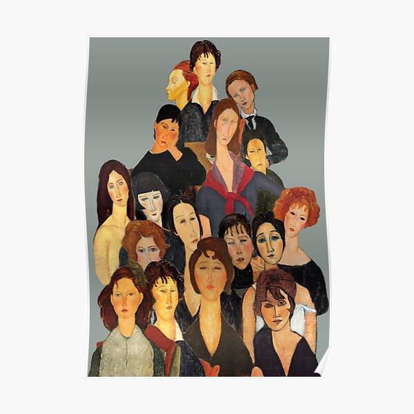 Portraits de famille Modigliani Poster