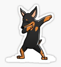 Funny Dabbing Miniature Pinscher Dog Sticker
