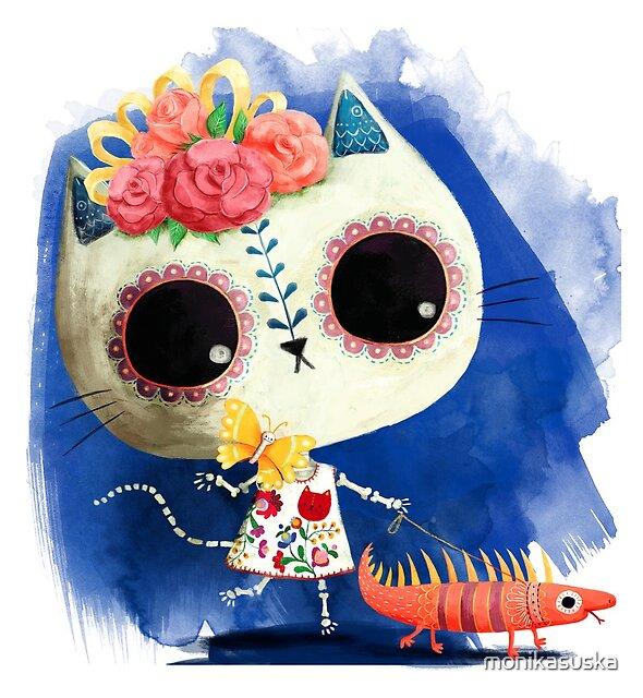 « Chat mexicain et l'iguane » par monikasuska
