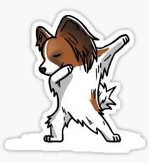 Funny Dabbing Papillon Dog Sticker