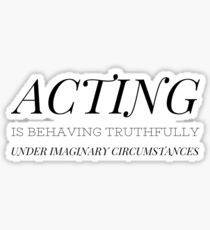 ACTING Sticker