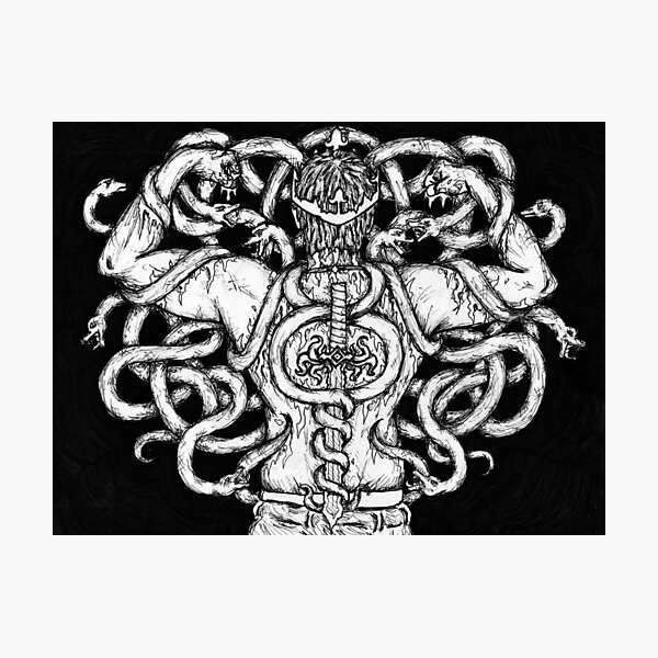 The Snake King Photographic Print