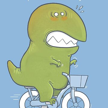 T-Rex Tries Biking by Queenmob