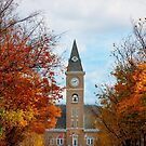 Autumn Cityscape around the Fayetteville Arkansas Courthouse  by Gregory Ballos