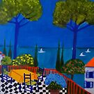 The Terrace in St Tropez by Rusty  Gladdish