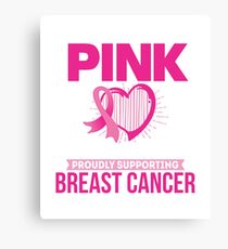 I Wear Pink for my Grandma, Breast Cancer Awareness Canvas Print