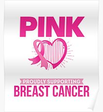I Wear Pink for my Grandma, Breast Cancer Awareness Poster