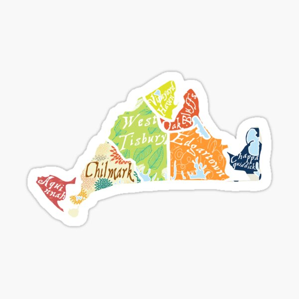 Map of Martha's Vineyard Sticker