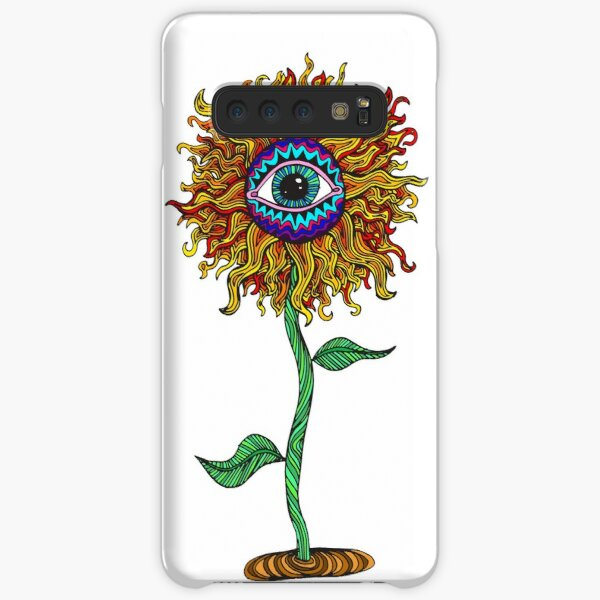 Psychedelic Sunflower - Exciting New Art - Doona is my favourite! Samsung Galaxy Snap Case