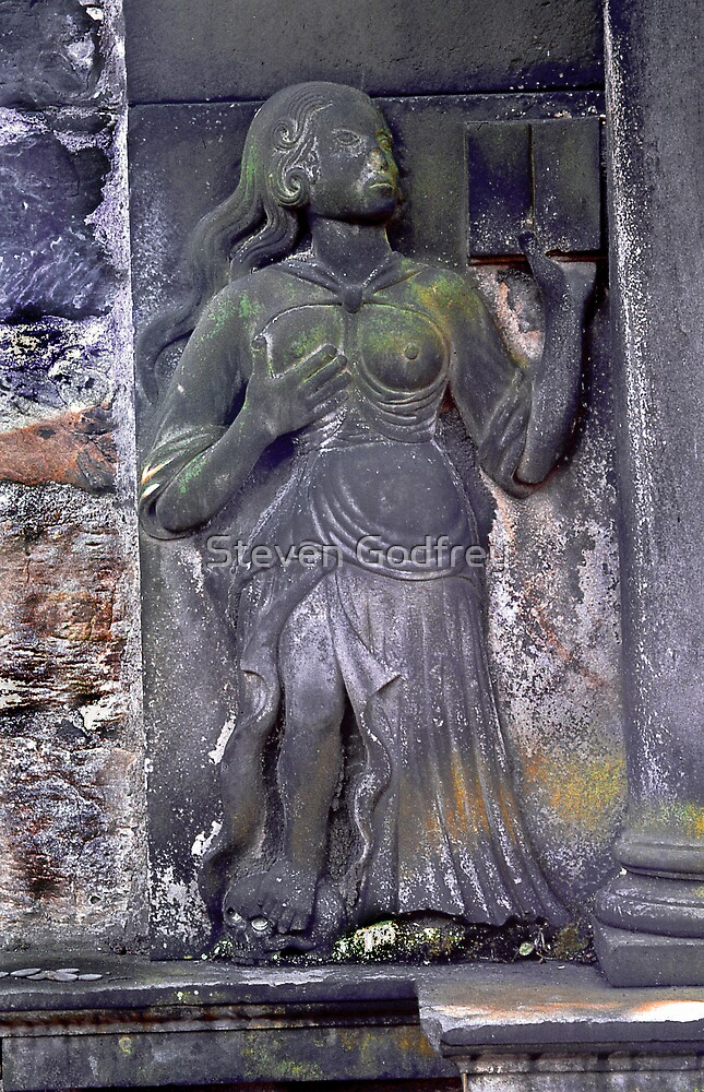 Woman and Book - Old Calton Cemetary by Steven Godfrey