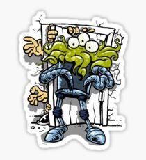 monsters at the door Sticker