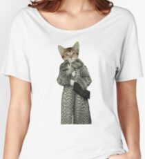 Kitten Dressed as Cat Women's Relaxed Fit T-Shirt