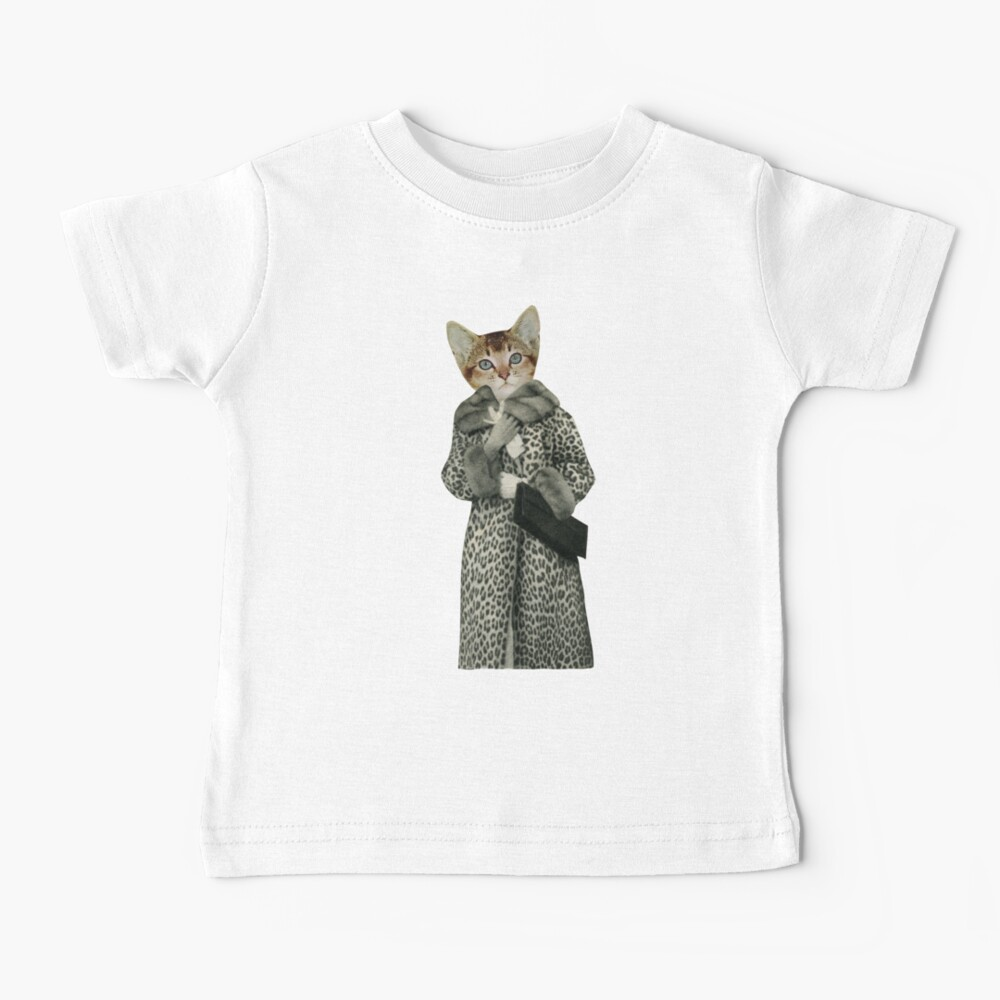 Kätzchen gekleidet als Katze Baby T-Shirt