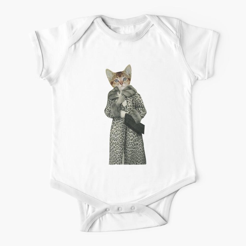 Kätzchen gekleidet als Katze Baby Body