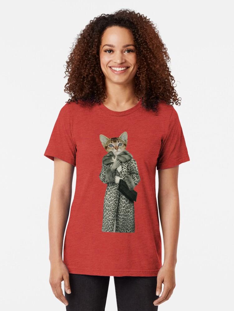 Alternative Ansicht von Kätzchen gekleidet als Katze Vintage T-Shirt