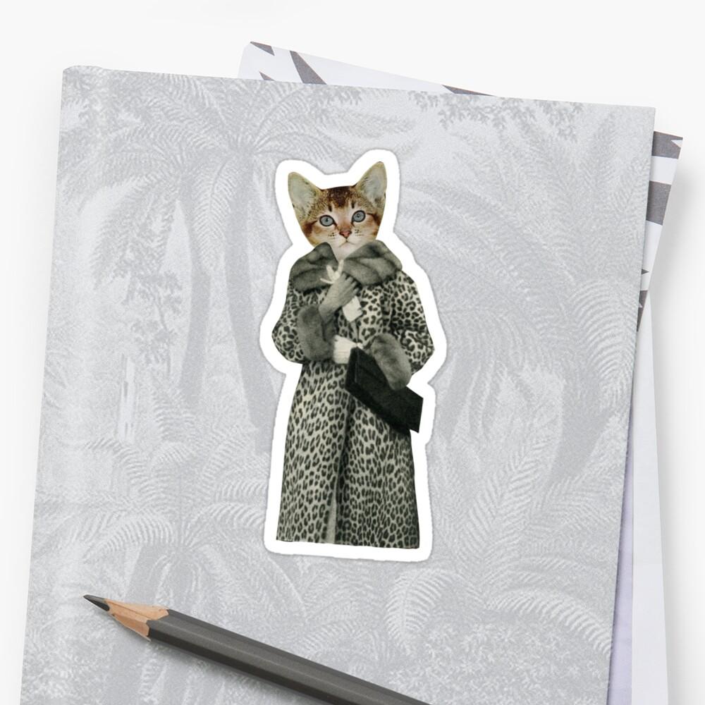Kätzchen gekleidet als Katze Sticker