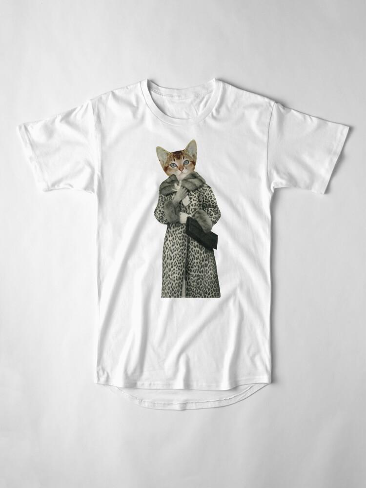 Alternate view of Kitten Dressed as Cat Long T-Shirt