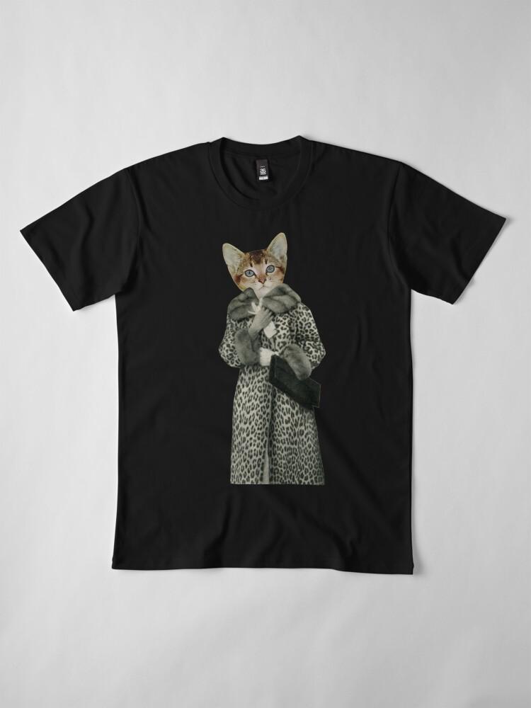 Alternative Ansicht von Kätzchen gekleidet als Katze Premium T-Shirt